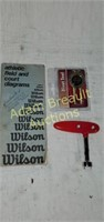 New divot tool, golf shoe wrench, Wilson Athletic