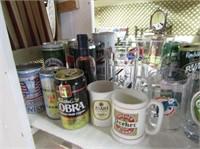 Beer Bottles, Cans , Mugs