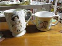 Morning Hair Figurine & 2 Collectable Mugs