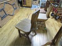3 Ponderosa Resteraunt Chairs