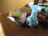 Art Glass Centrepiece & Vase