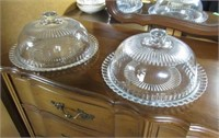 Pair Covered Cake Plates