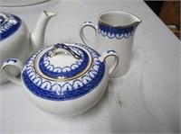 Keeling Burslam England Teapot, Cream & Sugar