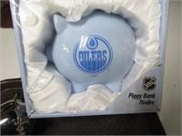 Edmonton Oilers Piggy Bank Etc