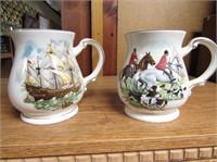 Pair Saddler Mugs