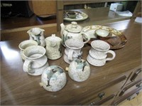 Stoneware Teapot, Mugs,Cream & Sugar, Etc
