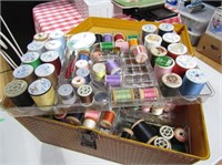 Vintage Sewing Box & Contents