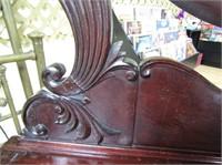 Antique Dresser W Bevelled Glass Mirror