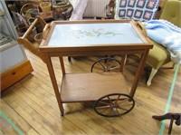 Tea Wagon W Serving Tray