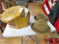 Double Hat Box With Hats
