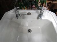 Antique Porcelain Pedestal Sink