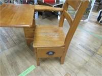 School Desk W Side Drawer