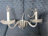 Glass Wall Sconce & Metal Art Deco Wall Light