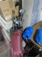 Set Fairway Clubs, Wilson Irons, Bag