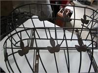 4 Metal Wall Baskets