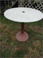 Metal Base Bar Table