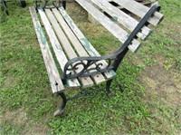 Iron Frame Garden Bench