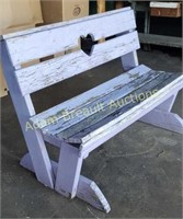 Custom built solid wood outdoor bench, needs a
