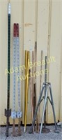 3 steel T posts, antenna stand and Mast polls,