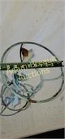 Metal Leaf decorative 20 in plant/globe stand