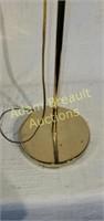 48 in polished brass adjustable floor lamp