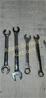 12 assorted open end and box end wrenches