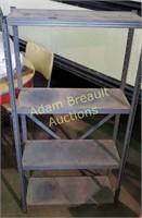 Vintage 4 tier metal storage Shelf 9.5 x 24 x 48