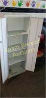 Vintage two-door metal storage cabinet, 10 X 20 X