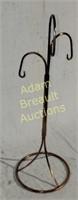 25 inch brushed copper basket hanger