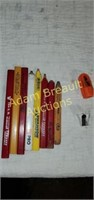 Scored screws and Driver, magnetic labels,