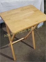 Solid wood folding TV tray, 14.25 x 19