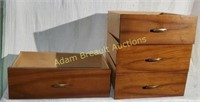 4 wooden dresser drawers, 15 x 15 and 20 x 12