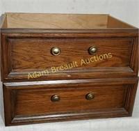2 wooden dresser drawers, 16 x 22