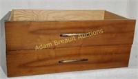 2 solid wood dresser drawers, 15.5 x 27