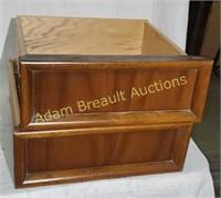 3 wooden dresser drawers, 16 x 27 + 16 x 15