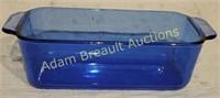 Blue Pyrex bread pan