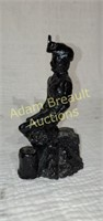 Coal miner 7 inch figurine handcrafted from coal