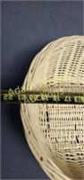 White wicker basket, 16 x 21 x 6