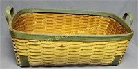 Vintage extra large wicker basket, 17 x 38 x 9.5
