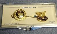 F.O.E & F.O.E. Ladies Auxiliary double frat pin