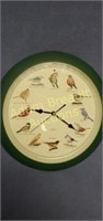 13 in quartz Songbird wall clock