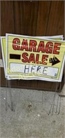 4 wire frame garage sale signs