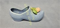 McCoy Pottery 8 in blue shoe & rose planter