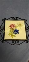 Laufen Suisse decorative porcelain metal frame