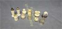 Vintage assorted salt pepper shakers and