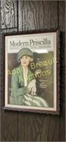 Modern Priscilla framed magazine cover