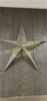 24 in metal decorative star wall hanging