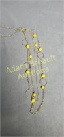 Paparazzi silver and yellow bead necklace and