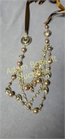 Paparazzi silver and brown bead necklace and