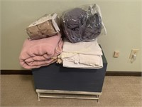 Blankets and Small Chest